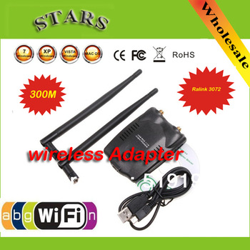 Free shipping High speed USB2.0/1.1 300M USB WiFi Wireless Network Card LAN Adapter adaptador 802.11 n/g/b w/ Antenna MIMO CCA