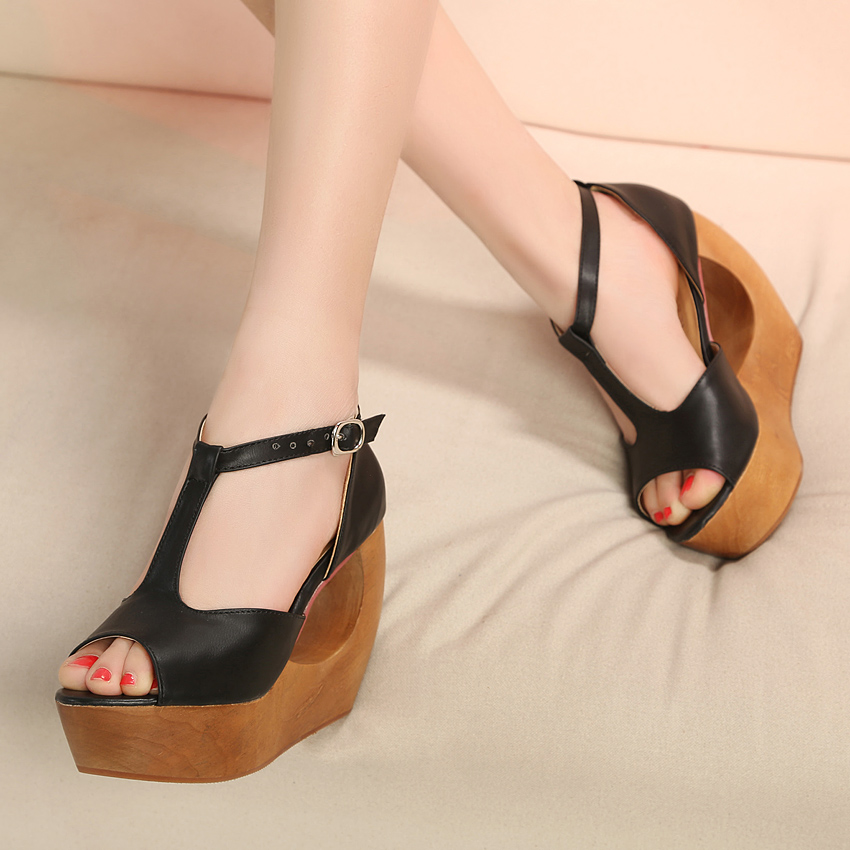 Wedges sandals new arrival fashion autumn shoes cutout high-heeled open toe wedges sandals women's shoes 770(China (Mainland))