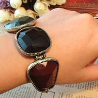Fashion Big Colorful Gem Stone Bracelet Hot Jewelry Geometry Irregular Free shipping 12pcs/lot