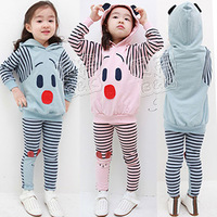 free shipping Cotton 2013 spring cartoon puppy boys girls clothing baby casual clothing  set
