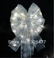 AC220V wedding and events party decoration led light string with silk ribbon 5m long Free Shipping