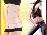 50pcs/lot Free Shipping DHL ,Women's Body Tummy Trimmer Invisible Slimming Waist Trimmer Belt With Lace Flower