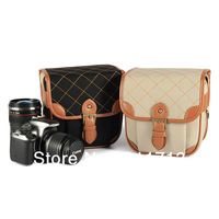 2013 hot!!!china popular  canvas  retro leisure portable single shoulder SLR camera bag /video bags for Canon,nikon +2pcs color