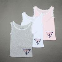 Cool summer baby vest 2013 hot sale girls lace vest child print cotton vest 100% cotton comfortable  free shipping 5PCS