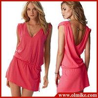 2014 Summer Women's solid Bikini dress, holiday Beach dress casual dress free shipping swimwear Ladies' Cover Up Shirt