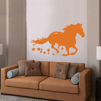 Home Decor horse pattern Large wall art animal decal vinyl removeable wall stickers
