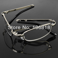 1x Foldable Folding Full Frame Reading Glasses Reader Eyeglasses Belt Case +3.50