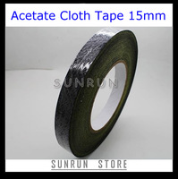Adhesive High Temperature Insulating Acetate Cloth Tape 15mm x 30m Hot Melt Tape, Free Shipping