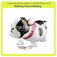 Walking pet balloon walking French bulldog