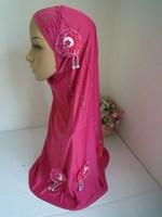 mu1235 Wholesale New Design Muslim Hijab With Four Flower Islamic Hijab Free Shipping By EMS or FEDEX