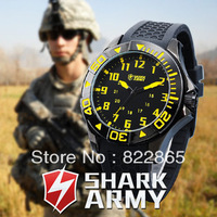 Free shipping Men's outdoor sports dial military form of quartz silicone watch sports watch waterproof
