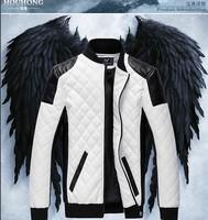 Free shipping!2013 new style Top brand men fashion leather motorcycle jacket genuine men's jacket coat  M--XXXXXL