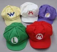 Retail Super Mario Bros Anime Cosplay Hat baseball cap luigi Cap Free shipping
