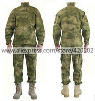 Male Multicam Thick Military Tactical Camo Suit ATACS Combat Uniform FG Woodland Camo Color For Men Size S-XXL Freeshipping