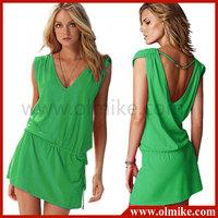 2014 Hot fashion brand sexy swimwear lovely beach dress 11colors free shipping
