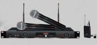 New MIC Audio 2x100 Ch UHF Wireless Hand Held Microphone Mic System  UHF   SR-728  730.250MHz-789.950MHZ