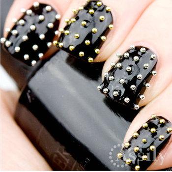 Fashion Metallic Caviar Studs -  Silver Stud Nail Art Hot Sales Free shipping