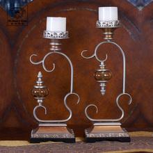 popular iron pillar candle holder