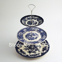 New arrive 1 piece cake stands fruit/vegetables stands 2 color popular Handle christmas gift