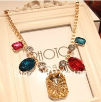 Free Shipping New colored Baroque gem necklace Fashion Lady Necklaces Jewelry  Banquet  Party