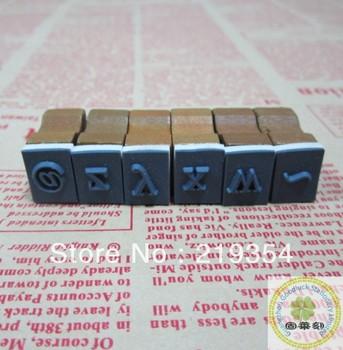 Oblong number and letter wooden stamp set/Oblong 70pcs number and alphabet wooden stamp box