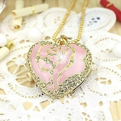 Quality Rose Crystal Jewelry Heart USB Flash Disk Drive 8GB 16GB 32GB 64GB Free Shipping(China (Mainland))