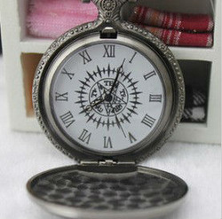 Free shipping Kuroshitsuji Pocket Watch Necklace Cosplay Cos(China (Mainland))