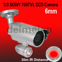 CCTV Security 700TVL one Array Leds 6mm lens Outdoor Box IR CCD Camera
