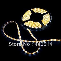free shipping 30M warm white led strip light 5050 SMD 1M-60leds 5M/roll DC12V waterproof IP65 holiday deocration light RoHS CE(China (Mainland))