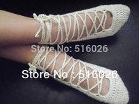 Bridal dance shoes, Custom, lace, Wedding beach party crochet sandals, foot jewelry, leg decoration, hippie sandals 2pair/lot