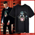 FH-206 Chic Dog head Rottweil Printed shirt Mens Summer Cotton T shirt MEN fashion Tops Rhinestone Short Sleeve tshirt GIV C267