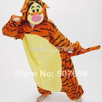 Promotion!!!  Pyjamas Cosplay Costume Fleece Lovely Tiger Winter Pyjamas Adult Sleepsuit