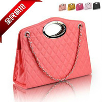 Cute bags autumn women's handbag plaid shoulder bag handbag chain bag sewing thread shaped dumplings