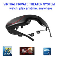"72"" inch Virtual WideScreen Digital Private Multimedia Theatre Video Glasses Eyewear AV IN 16:9 +Free shipping"