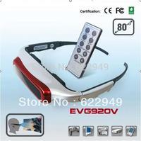 "New 80"" inch Virtual Digital Video Glasses Eyewear AV IN EVG920V +Free shipping"