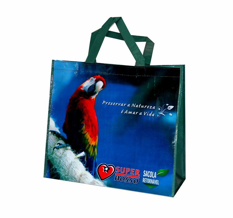 Fashion popular eco-friendly shopping bag folding waterproof lucky red parrot one shoulder handbag(China (Mainland))