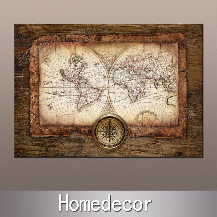 Large World Map Art Sailing World Map Art
