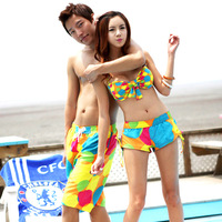 The beach color circle steel Toby Gini swimsuit , beach couples suite ,beach pants for men and women