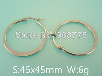 Free shipping wholesale stainless steel jewelry fashion hoope earrings E4E4106