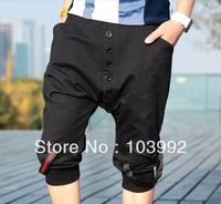 2013 Fashion Helical-Breasted Side Webbing Wild Casual Men's Harem  Pants , Men Clothing,Cotton Trousers ,Men Sports Pants