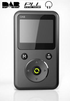 Portable DAB DAB+ PLL Radio Mini Digital Radio with FM TF Card MP3 Play Earphone