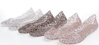 women fashion jelly flat sandal  dancing shoe crystal  comfort footwear  cut -outs free shipping eur size 36-40