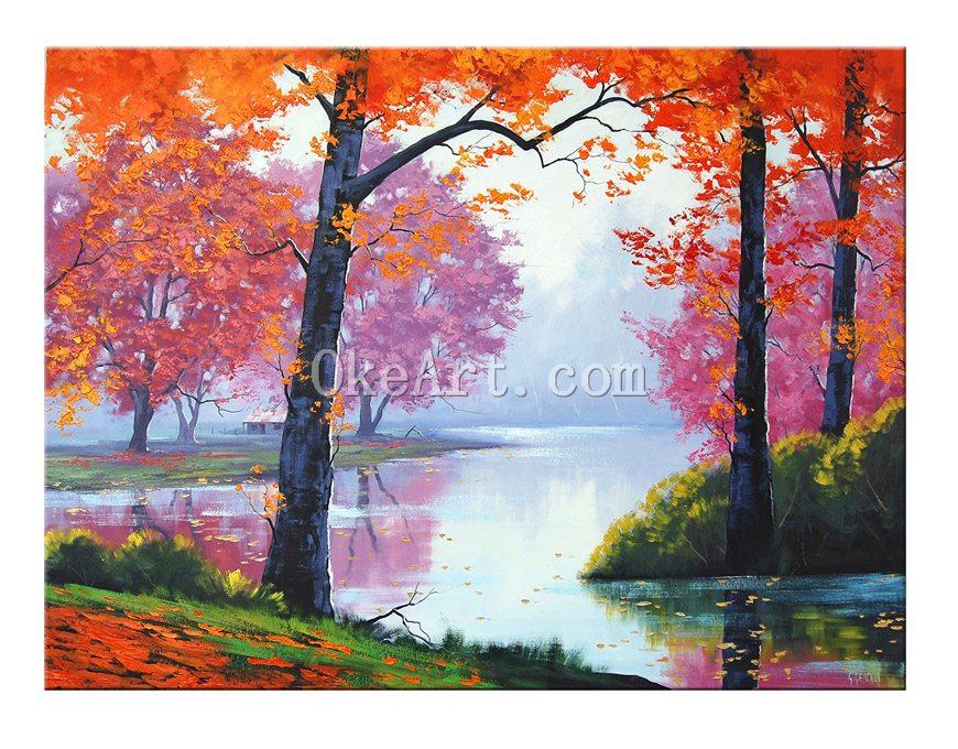 Oil Tree Paintings Orange Trees Oil Painting