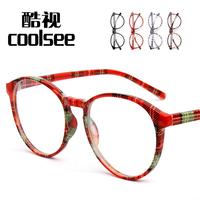 Autumn and winter vintage big box non-mainstream female eyeglasses frame plain glass spectacles frame male multicolour frame
