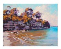 Gercken Sydney Harbour Manly Blue Seascape Australian Art Oil Painting Coastal Decor Home Decoration Living Room Wall Pictures