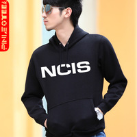 Jktee sitcoms ncis 2013 spring men's outerwear with a hood pullover sweatshirt Men plus size available