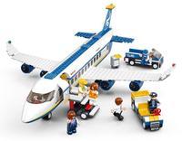 Best sale DIY Enlighten Child ABS Eco-Friendly high quality cargo plane building blocks 275pcs M38-B0366 Free Shipping