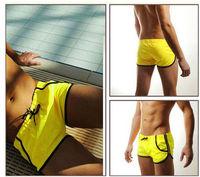 Free Shipping Hot Nice Mens Swimming Swim Trunks Shorts Slim Super Sexy Swimwear Fit
