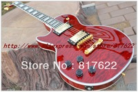 Wholesale - New Style Bloody Romance custom Red wavy ebony electric guitar left hand free shipping