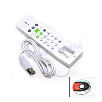 30PCS/LOT FREE SHIPPING NEW USB Skype Phone handset Skype Telephone White #BDN404